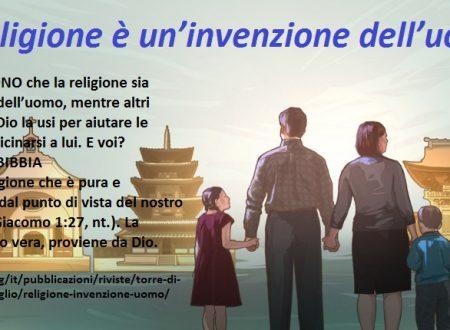 """– La Locandina – """"La religione è un'invenzione dell'uomo?"""""""