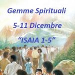 "Gemme Spirituali  5-11 Dicembre ""ISAIA 1-5"""