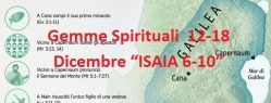 "Gemme Spirituali  12-18 dicembre ""ISAIA 6-10"""