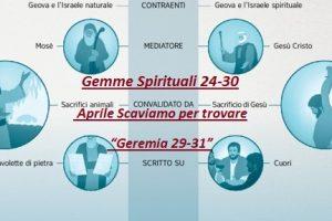 "Gemme Spirituali 24-30 Aprile Scaviamo per trovare  ""Geremia 29-31"""