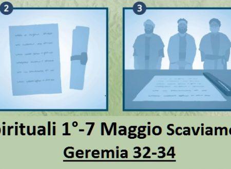 Gemme Spirituali 1°-7 Maggio  Scaviamo per trovare Geremia 32-34