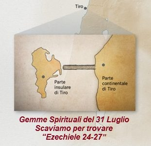 """Gemme Spirituali del 31 Luglio Scaviamo per trovare  """"Ezechiele 24-27"""""""