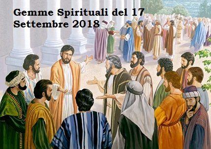 gemme spirituali del 17 settembre 2018