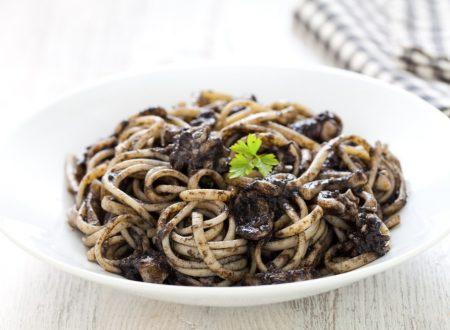 Linguine o Spaghetti  al nero di seppia